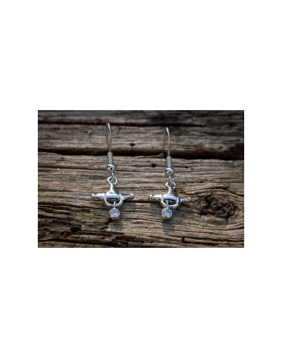 Stirrup With Stud Earring