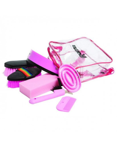 Roma Backpack Grooming Kit- Pink