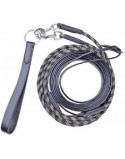 HKM Draw Reins- Combination Nylon/ Leather