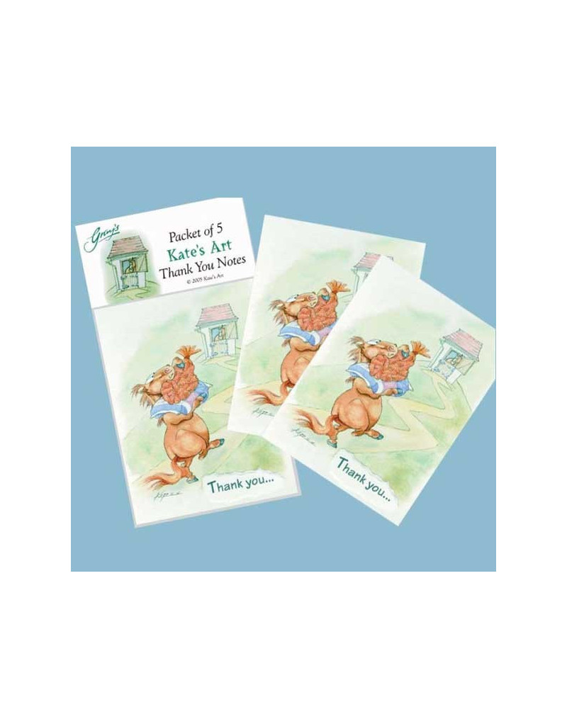 Kates Art Thank You Cards- Pack of 5