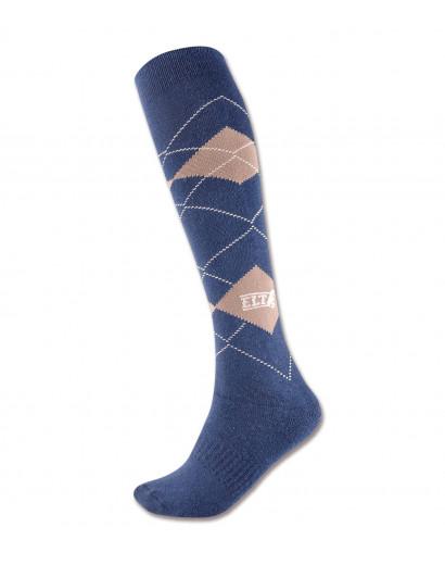 Waldhausen Riding Socks Karo Night blue/ Beige
