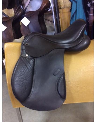 "16"" Licoln Black Pony Saddle"