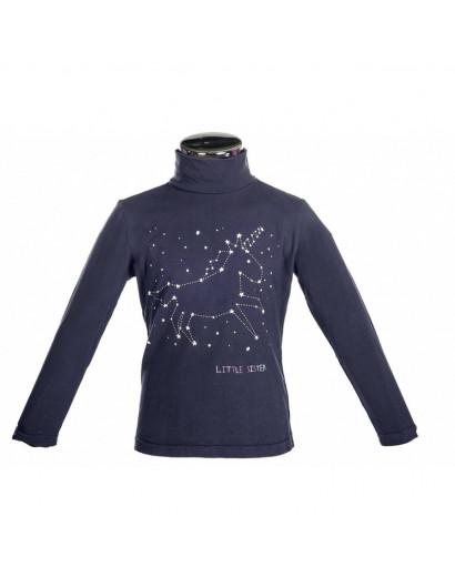 HKM Sweater Bonnie Unicorn Age 4-6 Deep Blue *Clearance*