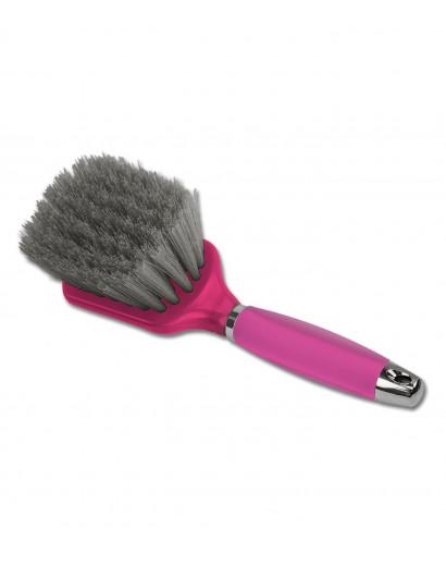 Hoof Brush with Gel Handle Pink