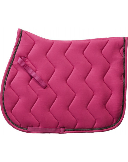 Equitheme Rope Saddlepad- Fuchsia/ Grey