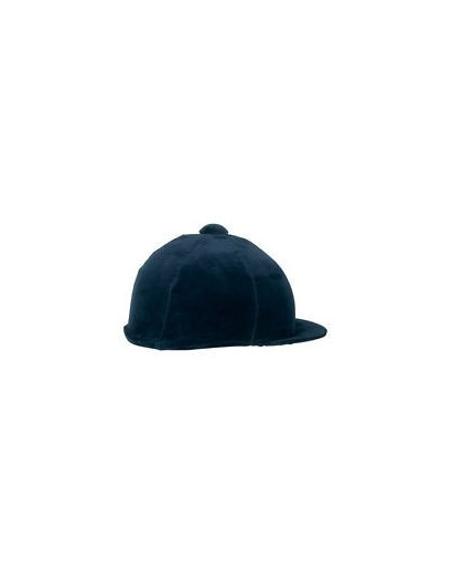 Shires Velveteen Hat Cover Navy