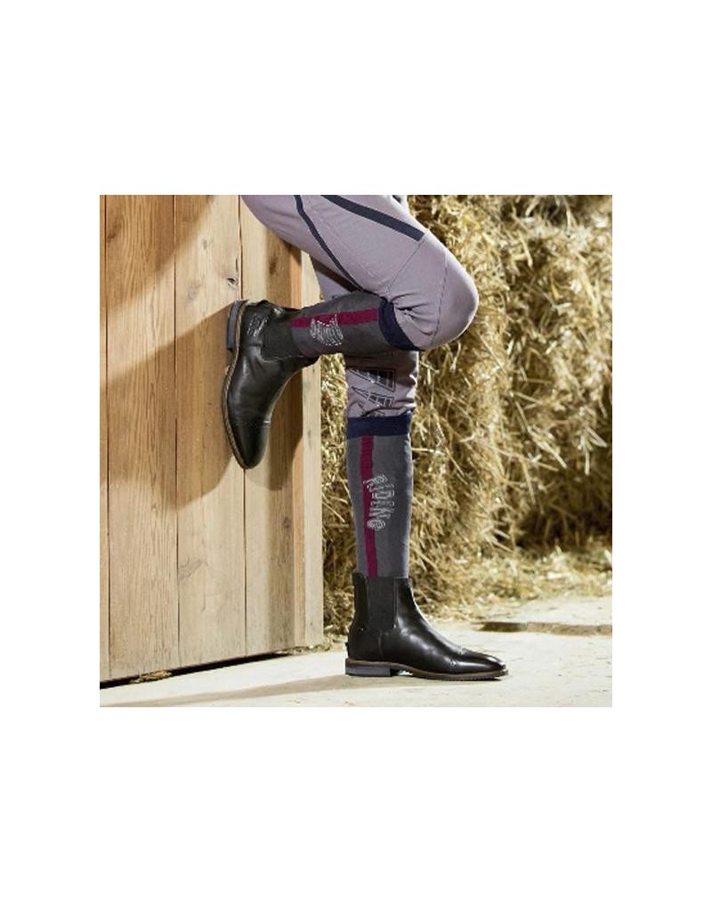 HKM Riding Socks Highland Grey Size 39-42