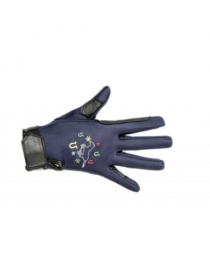 HKM Riding Gloves Galloping Horses Childs Gloves