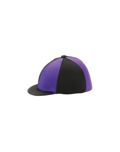 Shires Hat Silk Black/Purple