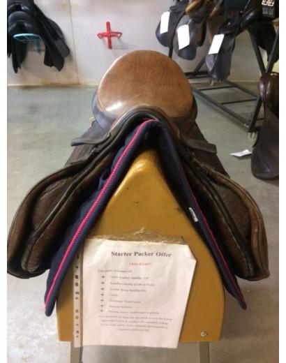 """17.5"""" Berney General Purpose Brown Saddle"""