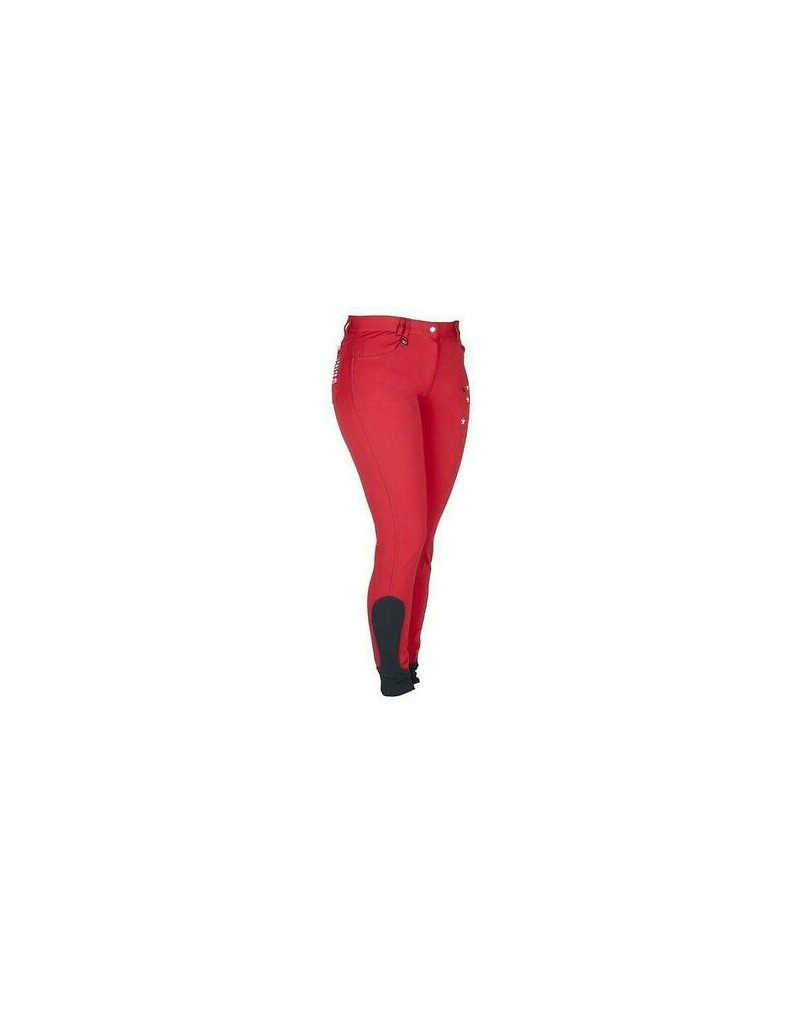 "La Valencio ""Capone FS Jr"" Breeches Age 10-11 Red"