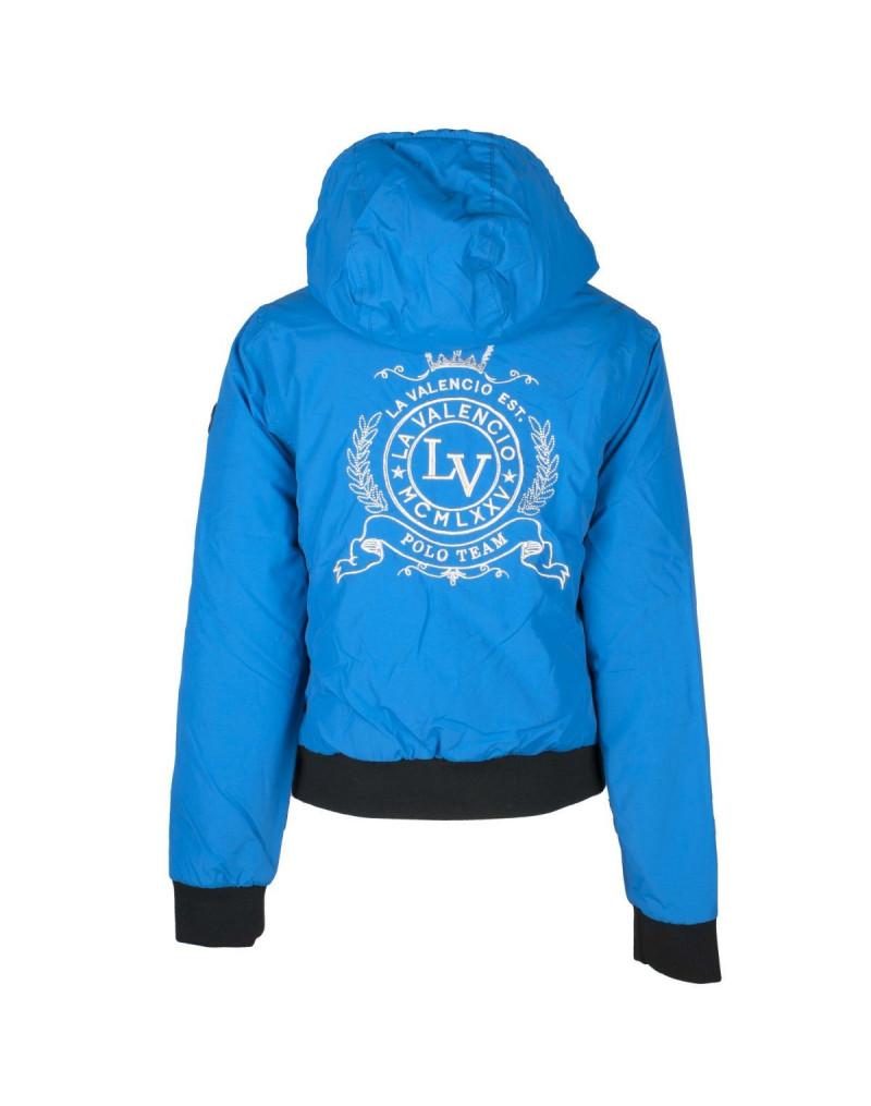"""La Valencio """"Kathelijn"""" Bomber Jacket- Cobalt Blue"""