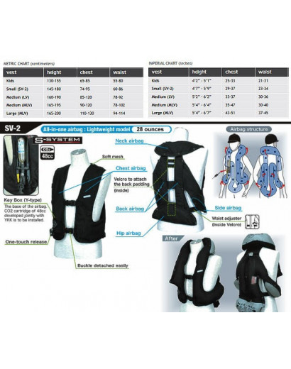 Hit-Air Inflatable Safety Vest - XS to Small