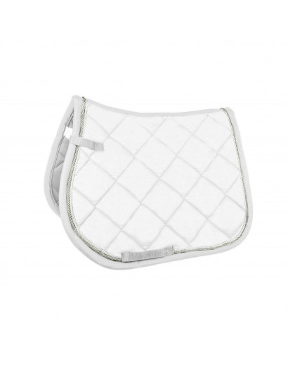 HKM Saddle Cloth- White- Cob/Full Size