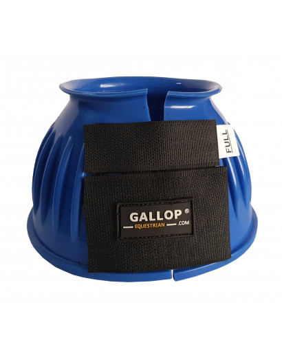Gallop Double Taped Ribbed Overreach boots- Blue