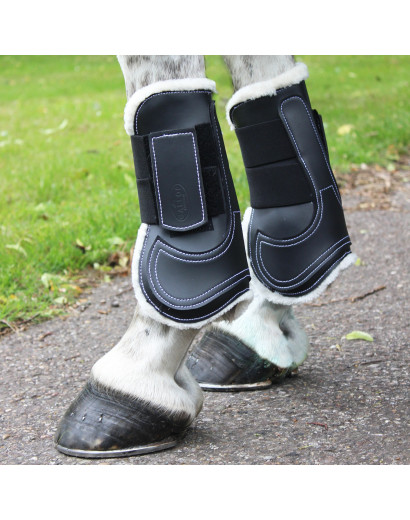 Gallop prestige faux fur lined Tendon boots