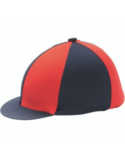 Shires Hat Silk Navy/Red