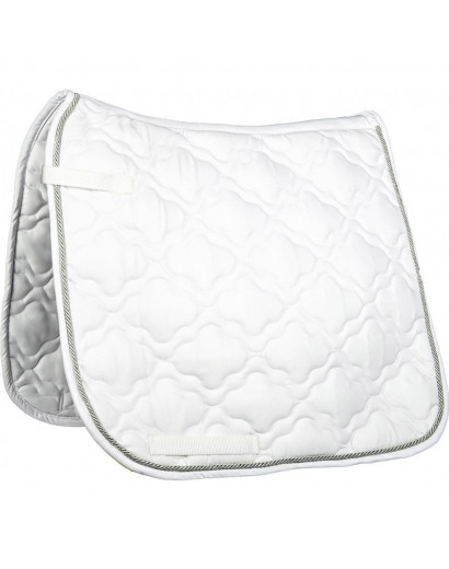 "HKM Saddle Cloth ""Equestrian"" White- Full Size"