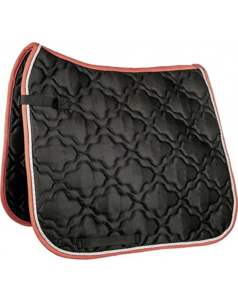 "HKM Saddle Cloth ""Equestrian"" Black/Red - Pony Size"