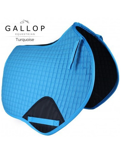 Gallop Prestige Close Contact Saddlepad- Turquoise