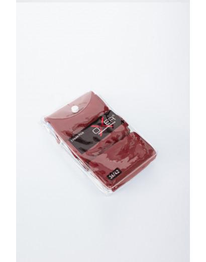 Oxer socks-Burgundy red-3 pairs