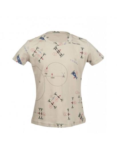 HKM t-shirt- San Luis Parcours- Beige