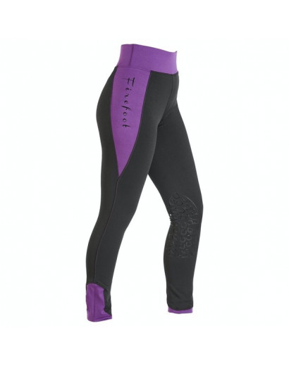 Firefoot Horseshoe Print Ripon Riding Tights- Kids- Black/Plum