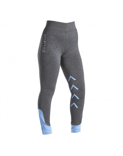 Firefoot Ripponden Kids Riding Tights- Grey Marl/ Sky Blue