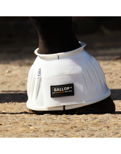 Gallop Double Taped Ribbed Overreach boots- White