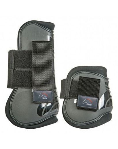 HKM Set of 4 Protection and Fetlock Boots- Black