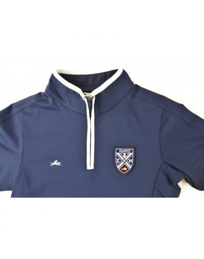 Equitheme Zipped Competition Polo- Age 7/8 (small fit)