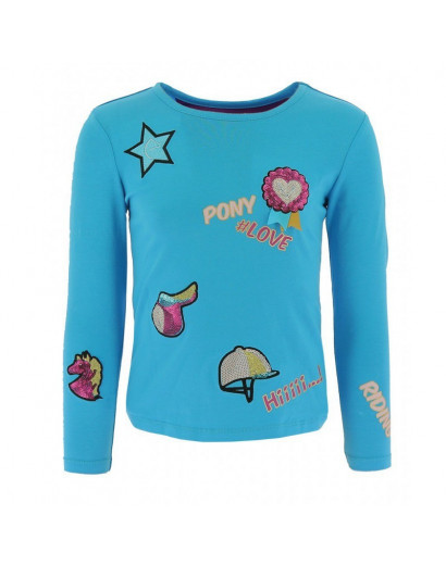 Ekkia Kids T-shirt with pony love and badges