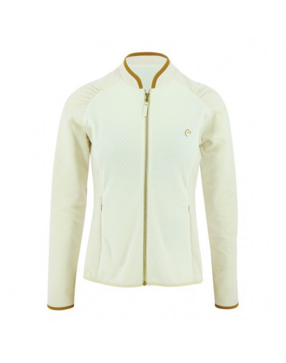 "Equitheme ""Tess"" Zipped Sweatshirt - Ladies- Off white"
