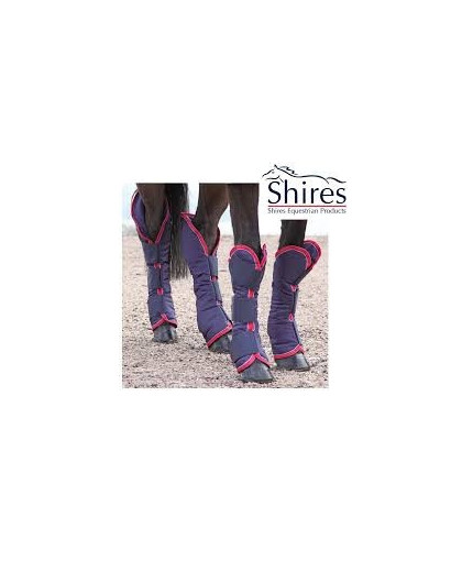 Shires Travel Boots-Navy/Red/White- Pony Size