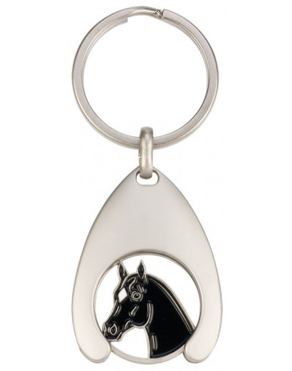 """Coin Holder with Coin """"Horse Head"""" Keyring"""