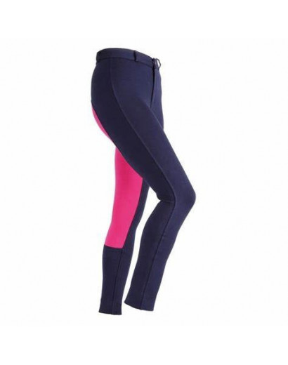 Wessex Two Tone Jodhpurs Childrens Purple/ Pink