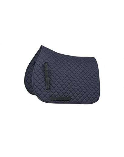 Shires Quilted Saddlecloth- Navy- Pony/Cob