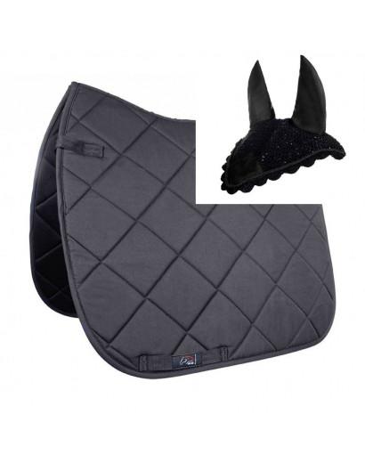 "HKM Saddlepad ""Allround""- Black- Pony Size"