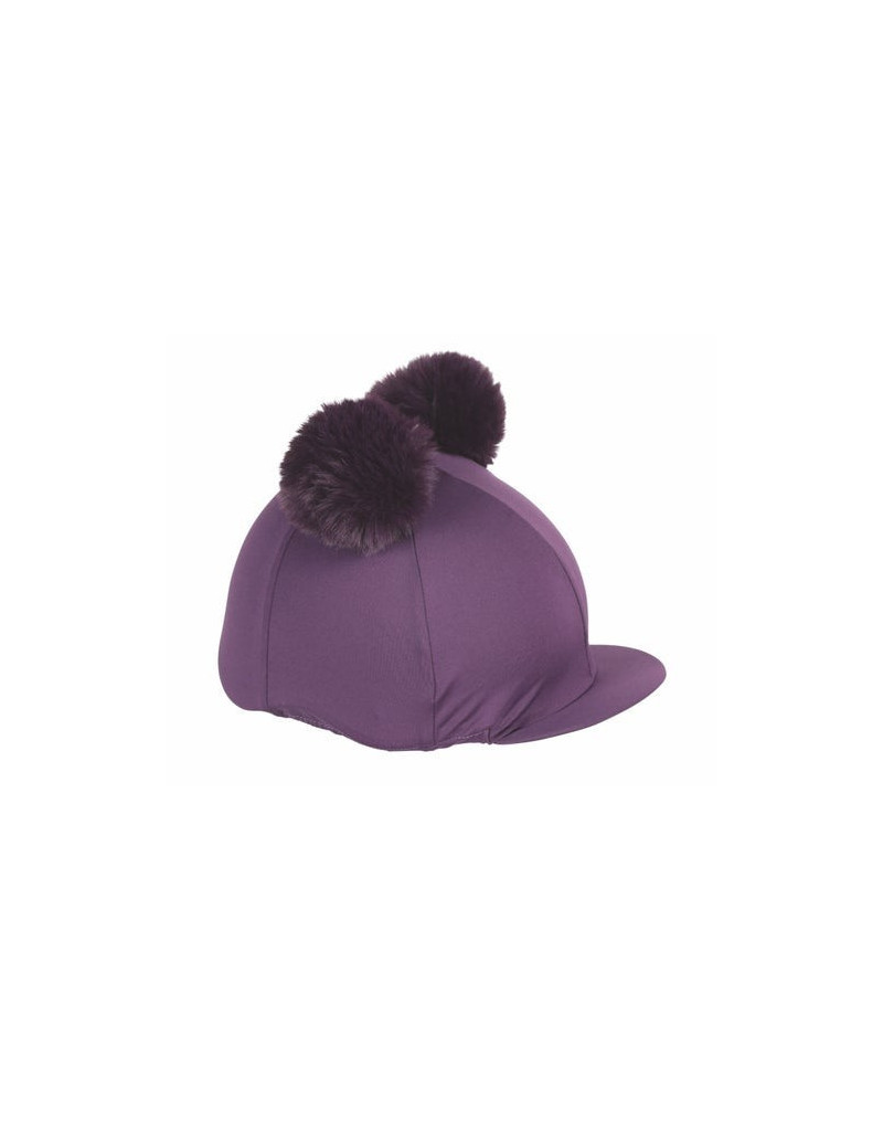 Shires Double Pom Pom Hat Cover- Blue