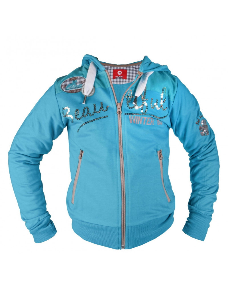 Red Horse Hoody- Nevada - Turquoise- ladies Extra Small