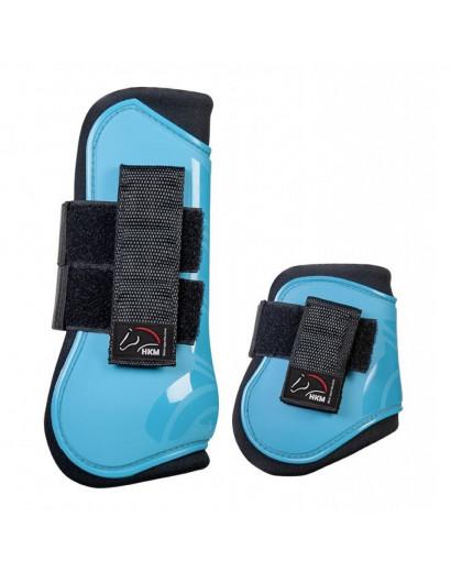 HKM Set of 4 Protection and Fetlock Boots- Aqua