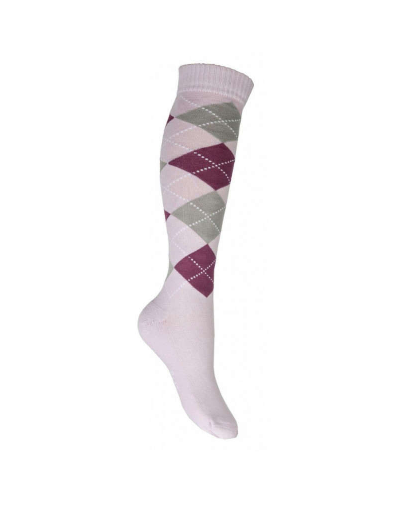 Riding socks -Lemmy- Pink/Mauve EU35-38